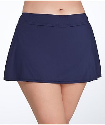 Anne Cole Signature Solid Skirted Bikini Bottom Plus Size