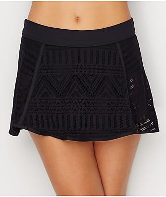 Anne Cole Signature Crochet All Day Skirted Bikini Bottom