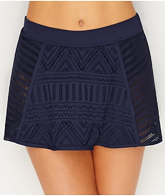 Anne Cole Signature Crochet All Day Skirted Bikini Bottom