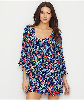 Anne Cole Signature Lazy Dazey Flounce Tunic Cover-Up