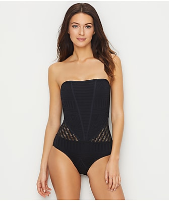 Anne Cole Signature Crochet All Day Bandeau One-Piece