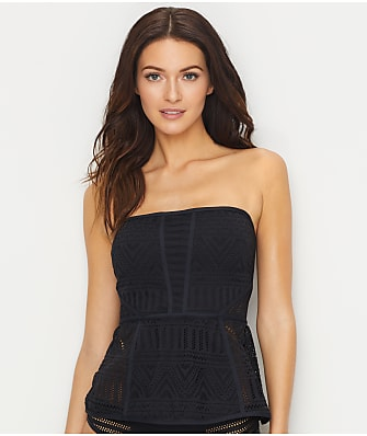 Anne Cole Signature Crochet All Day Wire-Free Bandini Top