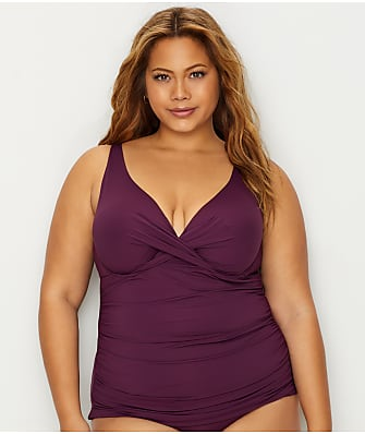Anne Cole Signature Plus Size Live In Color Underwire Tankini Top