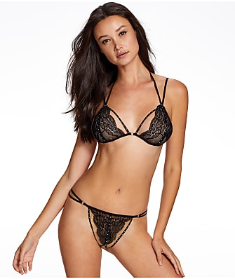 Ann Summers Keely Stud Bra & Crotchless Panty Set