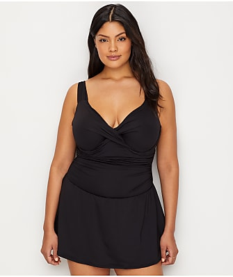 Anne Cole Signature Plus Size Live In Color Underwire Swim Dress