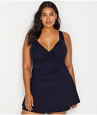 f7496f3196 Anne Cole Signature Plus Size Live In Color Underwire Swim Dress