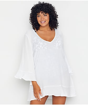 Anne Cole Signature Plus Size Live In Color Flounce Cover-Up