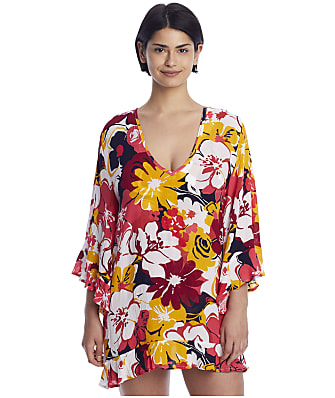 Anne Cole Signature Wallflower V-Neck Cover-Up