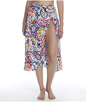 Anne Cole Signature Watercolor Paisley Sarong Cover-Up