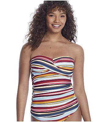 Anne Cole Signature Boardwalk Stripe Twist Bandini Top