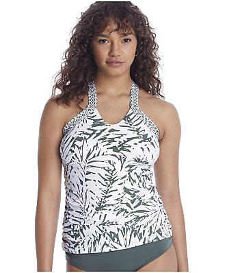 Anne Cole Signature Palm Breeze Hi-Neck Tankini Top
