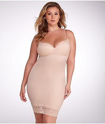 RED HOT SPANX Luxe & Lean Firm Control Lace Slip Plus Size