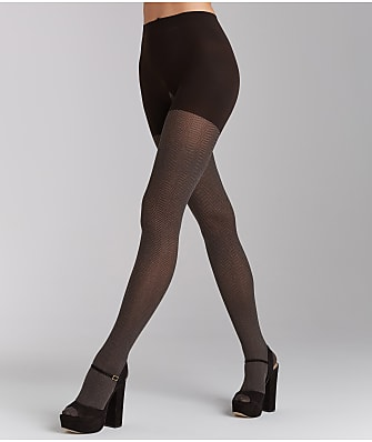 RED HOT SPANX Herringbone Shaping Tights
