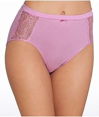 Bali Cotton Desire Lace Hi-Cut Brief
