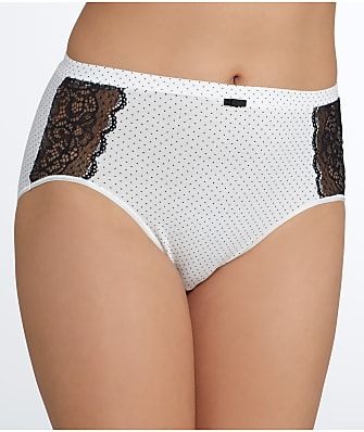 Bali Lace Desire Hi-Cut Cotton Brief