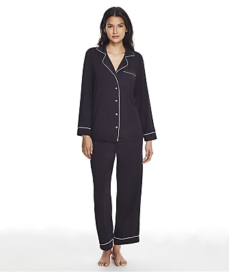 Barefoot Dreams Luxe Milk Jersey Modal Piped Pajama Set