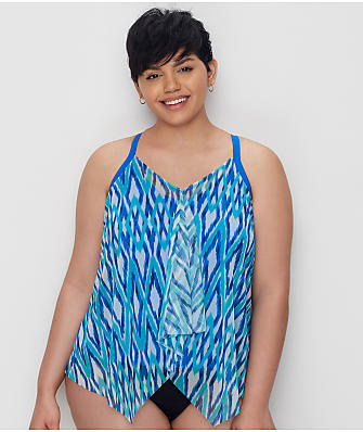 Beach House Plus Size Rising Tide Kerry Underwire Tankini Top
