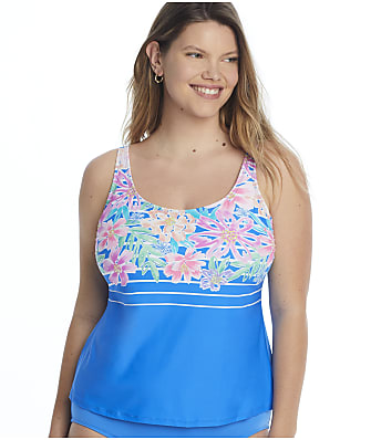 Beach House Plus Size Between The Lines Julie Tankini Top