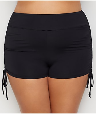 Beach House Plus Size Paloma Beach Adjustable Side Tie Swim Shorts