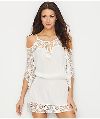 Becca Poetic Smocked Swim Cover-Up