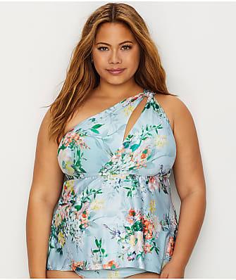 BECCA ETC Plus Size Femme Flora Tankini Top