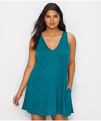 20353a0190a BECCA ETC Plus Size Breezy Basics Swim Cover-Up