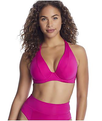 Becca Color Code Underwire Halter Bikini Top D-F Cups