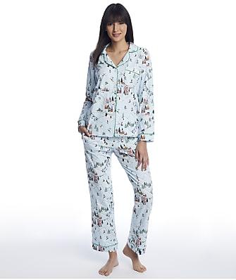Bedhead Blue Ski Village Knit Pajama Set