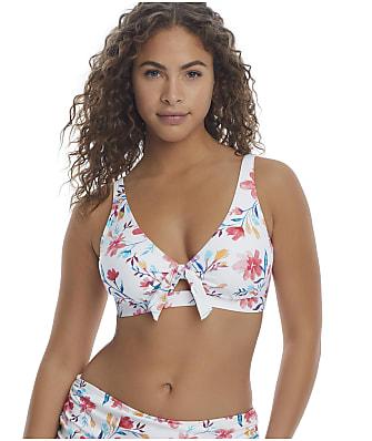 Birdsong Fleur Tie Front Bikini Top