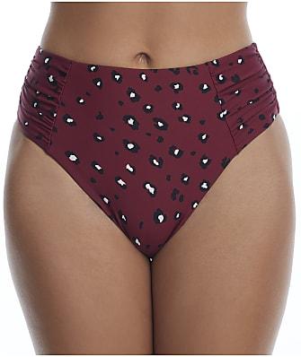 Birdsong Wildside Ruched High-Waist Bikini Bottom