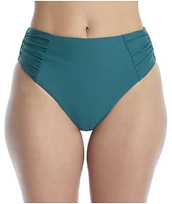 Birdsong Palmetto Ruched High-Waist Bikini Bottom