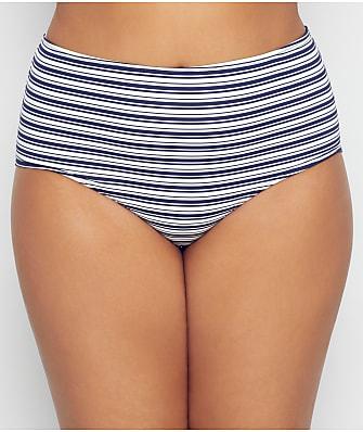 Birdsong Plus Size Newport Stripe Bikini Bottom
