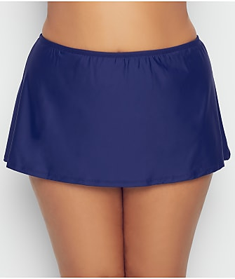 Birdsong Plus Size Midnight Basic Skirted Bikini Bottom