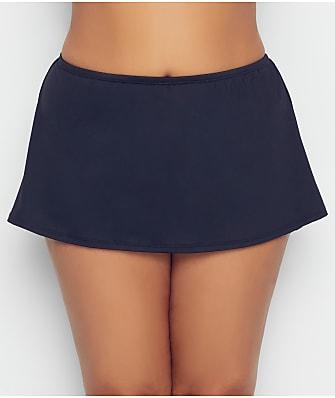 Birdsong Plus Size Onyx Basic Skirted Bikini Bottom