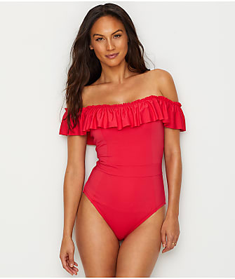 Bleu Rod Beattie Coast To Coast Ruffled One-Piece
