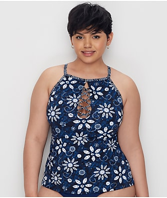 Bleu Rod Beattie Plus Size Take A Dip Underwire Tankini Top