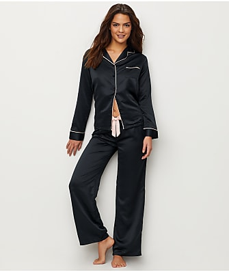 Bluebella Claudia Black Satin Pajama Set