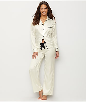 Bluebella Claudia Satin Cream Pajama Set