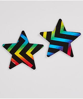 Bristols 6 Midnight Rainbow Star Pasties