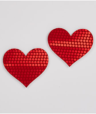 B-Six Moulin Sequin Heart Pasties