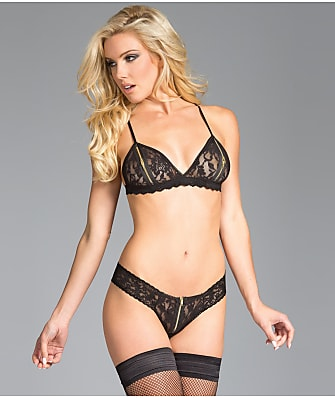 Be Wicked Zip-Up Bralette & Panty Set
