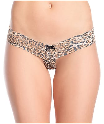 Be Wicked Crotchless Leopard Lace Thong
