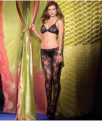 Be Wicked Floral Lace Crotchless Bodystocking