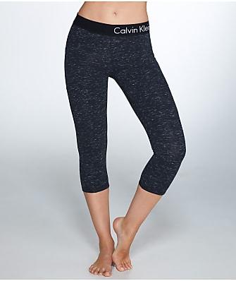 Calvin Klein Logo Waistband Crop Jersey Leggings