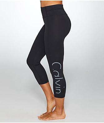 Calvin Klein Large Logo Cropped Compression Leggings