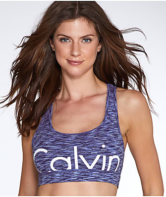 Calvin Klein Spacedye Mid-Impact Wire-Free Sports Bra