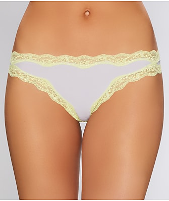 Calvin Klein Cotton With Lace Thong