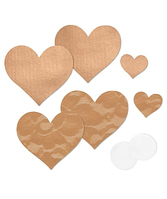 B-Six Nippies Basic Heart Pasties 2-Pack