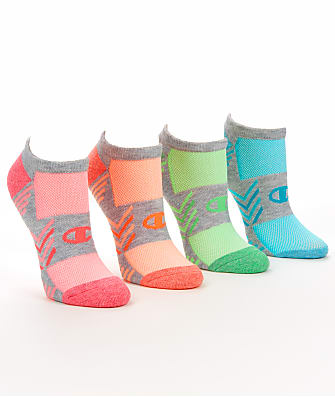Champion Trade Up Performance No Show Socks 4-Pack