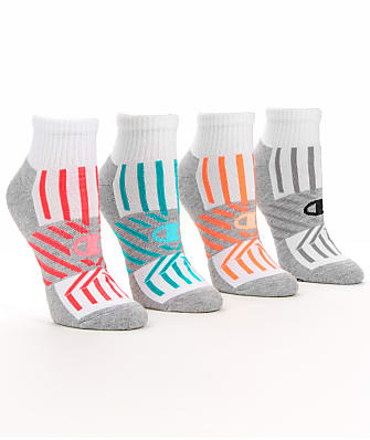 Champion Trade Up Performance Ankle Socks 4-Pack